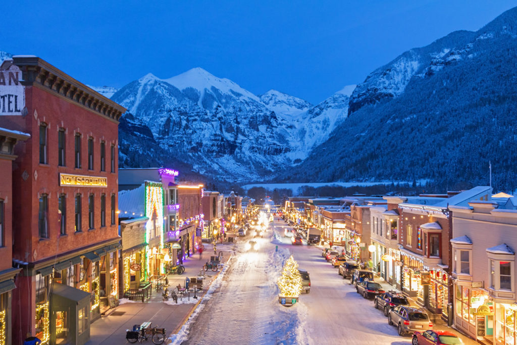 Telluride Christmas Colorado Ave
